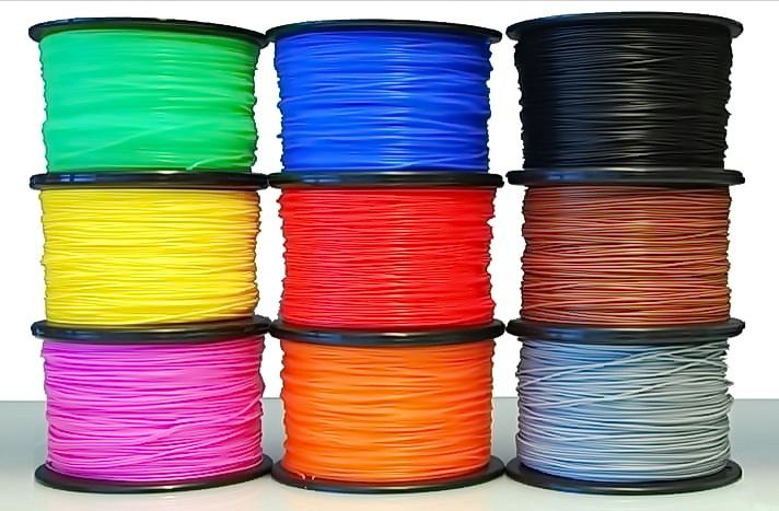 9 катушек цветного пластика для 3д принтера